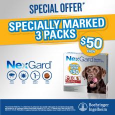 Nexgard Special - 3pks are $50